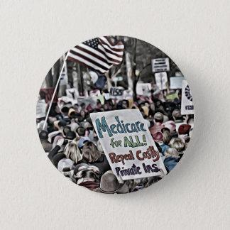 Badge Rond 5 Cm Assurance-maladie pour tous