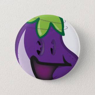 Badge Rond 5 Cm aubergine