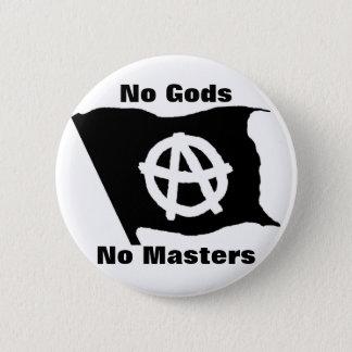 Badge Rond 5 Cm aucuns dieux aucuns maîtres