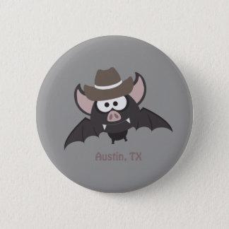 Badge Rond 5 Cm Austin, le Texas - batte de cowboy