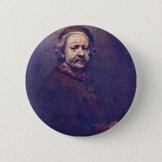 Badge Rond 5 Cm Autoportrait. Par Rembrandt Van Rijn