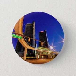 Badge Rond 5 Cm Avenue de Detroit Michigan Jefferson