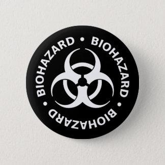 Badge Rond 5 Cm Avertissement de Biohazard
