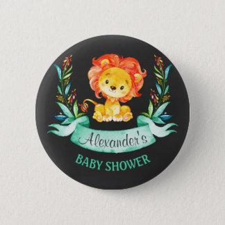Badge Rond 5 Cm Baby shower de lion d'aquarelle de tableau