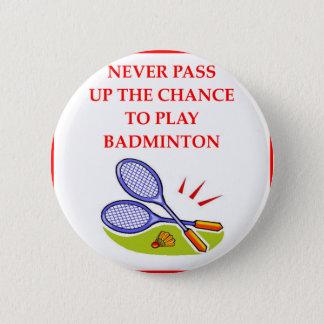 BADGE ROND 5 CM BADMINTON