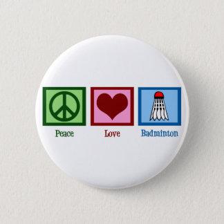 Badge Rond 5 Cm Badminton d'amour de paix