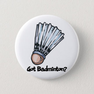 Badge Rond 5 Cm Badminton obtenu
