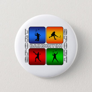 Badge Rond 5 Cm Badminton spectaculaire