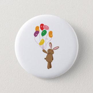 Badge Rond 5 Cm Ballons de lapin