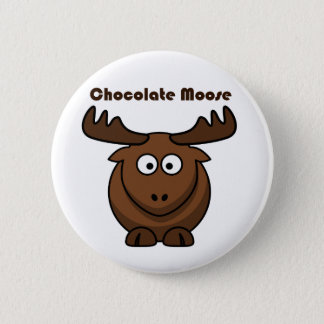 Badge Rond 5 Cm Bande dessinée d'orignaux de chocolat