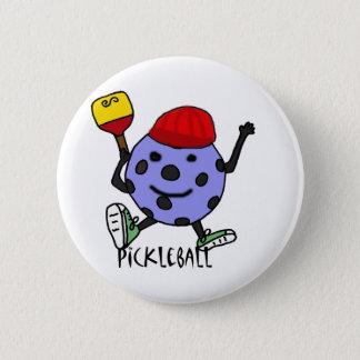 Badge Rond 5 Cm Bande dessinée drôle de caractère de boule de