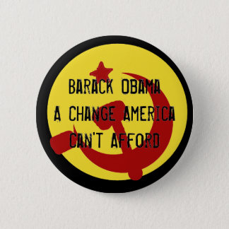 Badge Rond 5 Cm BarackObamaschange, changement Americ de Barack