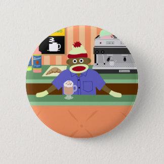 Badge Rond 5 Cm Barman de café-restaurant de singe de chaussette