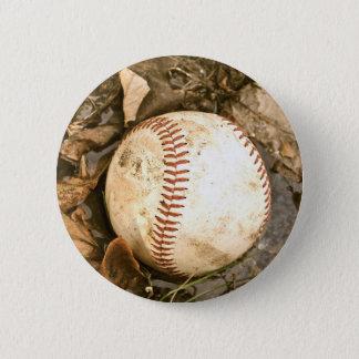 Badge Rond 5 Cm Base-ball dans la boue