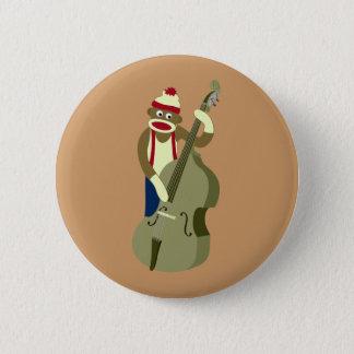 Badge Rond 5 Cm Bassiste droit de singe de chaussette