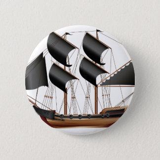 Badge Rond 5 Cm Bateau de pirate