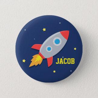 Badge Rond 5 Cm Bateau de Rocket, espace extra-atmosphérique, pour