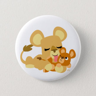 Badge Rond 5 Cm Bath du lion mignon de bébé