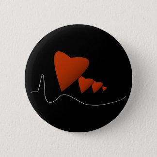 Badge Rond 5 Cm Battements de coeur