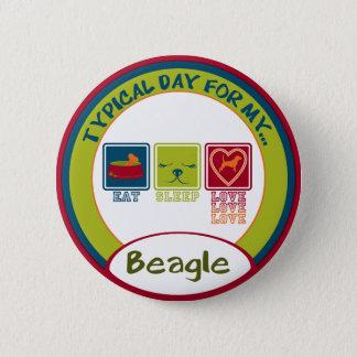 Badge Rond 5 Cm Beagle