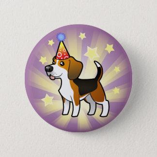 Badge Rond 5 Cm Beagle d'anniversaire