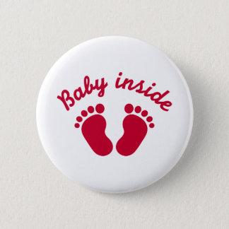 Badge Rond 5 Cm Bébé à l'intérieur des pieds