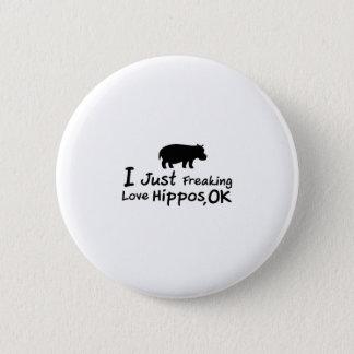 Badge Rond 5 Cm Bébé drôle de Loverss Fiona d'hippopotame