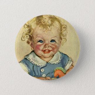 Badge Rond 5 Cm Bébé scandinave blond mignon vintage ou fille