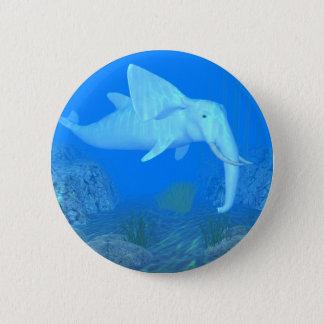 Badge Rond 5 Cm Bel hybride d'éléphant de baleine