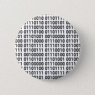 Badge Rond 5 Cm Binaire : J'aime programmer