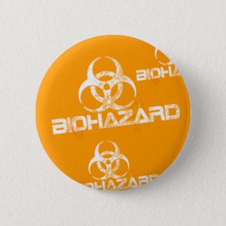 BADGE ROND 5 CM BIOHAZARD