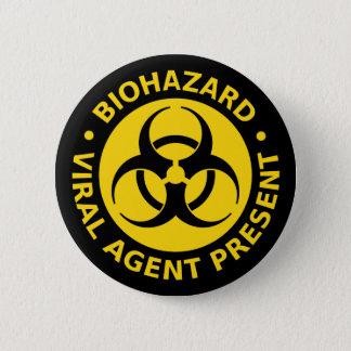 Badge Rond 5 Cm Biohazard - avertissement de virus