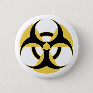 Badge Rond 5 Cm Biohazard radioactif