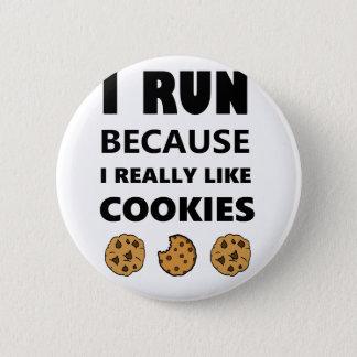 Badge Rond 5 Cm Biscuits pour la santé, fonctionnement de course