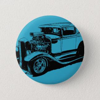 Badge Rond 5 Cm Bleu 1931 coupé de 5 fenêtres