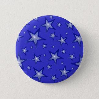Badge Rond 5 Cm Bleu bleu-foncé de bouton d'étoiles