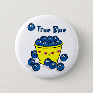Badge Rond 5 Cm Bleu vrai