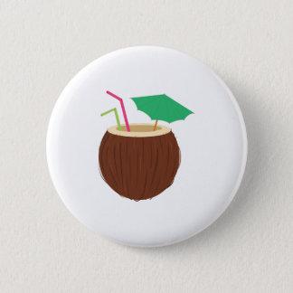 Badge Rond 5 Cm Boisson de noix de coco