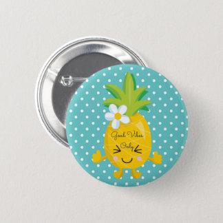 Badge Rond 5 Cm Bon ananas de vibraphone de pois seulement