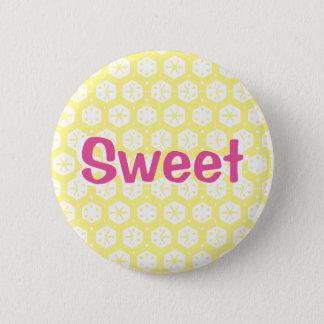 Badge Rond 5 Cm Bonbon (rose et jaune)