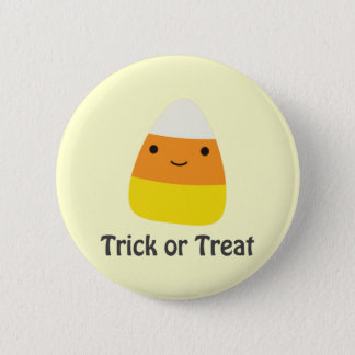 Badge Rond 5 Cm Bonbons au maïs - des bonbons ou un sort
