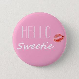 Badge Rond 5 Cm Bonjour bouton de bonbon