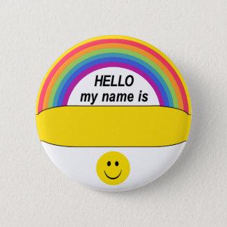 Badge Rond 5 Cm Bonjour bouton heureux