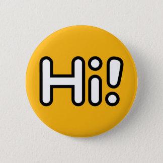 Badge Rond 5 Cm Bonjour ! Bouton - jaune