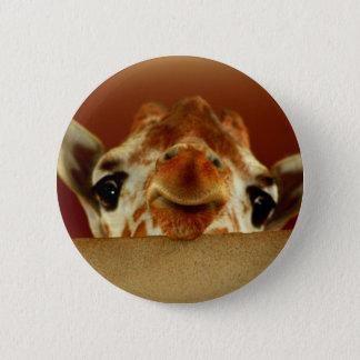 Badge Rond 5 Cm Bonjour girafe