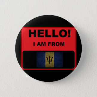 Badge Rond 5 Cm Bonjour, je suis d'insigne des Barbade