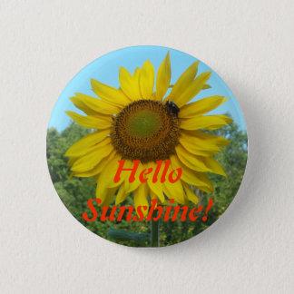 Badge Rond 5 Cm Bonjour soleil !