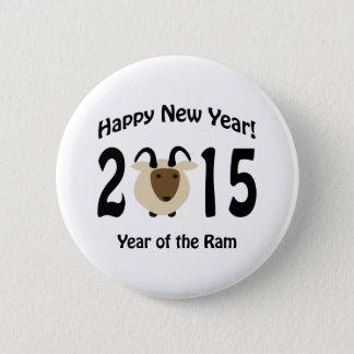 Badge Rond 5 Cm Bonne année ! 2015 ans de la RAM