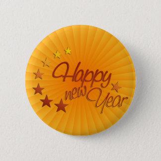 Badge Rond 5 Cm Bonne année avec la lumière des étoiles
