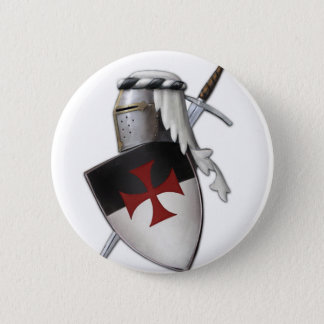 Badge Rond 5 Cm Bouclier de Templar de chevaliers
